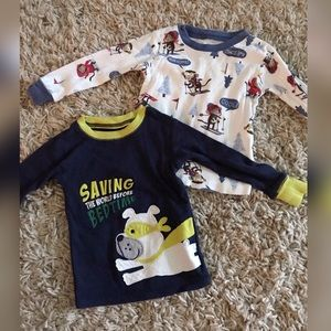 Baby Boy Pajama Top Bundle 18M